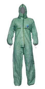 D-0007-GL DuPont™ Tyvek® 600 Plus Hooded coverall, Tyvek®, 44g/m², green, L, 1 pc/bag, 25 bags/box
