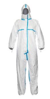 D-0007-WL DuPont™ Tyvek® 600 Plus Hooded coverall, Tyvek®, 41,5g/m², white, L, 1 pc/bag, 25 bags/box