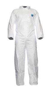 D-0009-L DuPont™ Tyvek® 500 Industry Coverall with collar, Tyvek®, 41,5g/m², white, L, 1 pc/bag, 25 bags/box