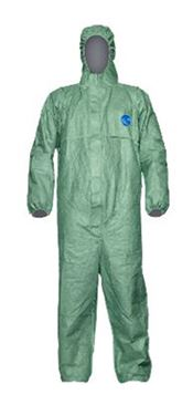 D-0010-GL DuPont™ Tyvek® 500 Xpert Hooded coverall, Tyvek®, 44g/m², green, L, 1 pc/bag, 25 bags/box