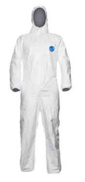 D-0010-WL DuPont™ Tyvek® 500 Xpert Hooded coverall, Tyvek®, 41,5g/m², white, L, 1 pc/bag, 25 bags/box