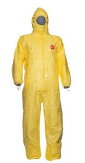 D-0011-L DuPont™ Tychem® 2000C Hooded coverall, Tychem®, 83g/m², yellow, L, 1 pc/ inner bag, 5 inner bags/outer bag, 5 outer bags/box