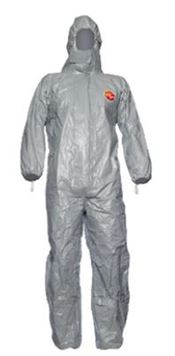 D-0012-L DuPont™ Tychem® 6000F Hooded coverall, Tychem®, 120g/m², grey, L, 1 pc/ inner bag, 5 inner bags/outer bag, 5 outer bags/box