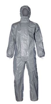 D-0020-L DuPont™ Tychem® 6000F Hooded coverall, Tychem®, 120g/m², grey, L, 1 pc/ inner bag, 5 inner bags/outer bag, 2 outer bags/box