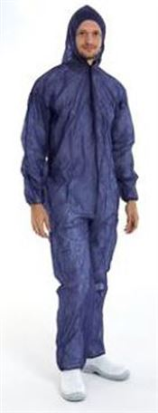 D-0078-BL CMT® PP Non-woven coverall with zipper, polypropylene, blue, L, 1 pc/bag, 50 bags/box