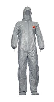 D-0098-L DuPont™ Tychem® 6000 F Hooded coverall, with attached sock boots, Tychem®, white, L, 1 pc/bag, 20 bags/box