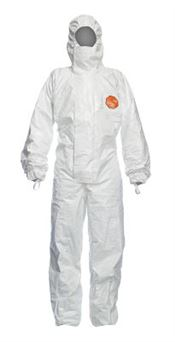 D-0112-L DuPont™ Tychem® 4000 S Hooded coverall, Tychem®, 124g/m², white, L, 1 pc/bag, 20 bags/box