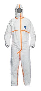 D-0113-WL DuPont™ Tyvek® 800 J Hooded coverall, Tyvek®, 59g/m², white, S, 1 pc/bag, 25 bags/box