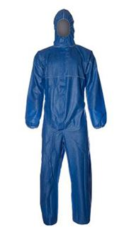 D-0114-BL DuPont™ ProShield® 20 Hooded coverall, ProShield®, 43g/m², blue, L, 1 pc/bag, 50 bags/box