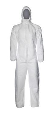 D-0114-WL DuPont™ ProShield® 20 Hooded coverall, ProShield®, 43g/m², white, L, 1 pc/bag, 50 bags/box