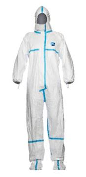 D-0118-WL DuPont™ Tyvek® 600 Plus Hooded coverall with socks, Tyvek®, 41,5g/m², white, L, 1 pc/ inner bag, 20 inner bags/outer bag, 4 outer bags/box