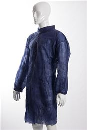 D-0050-B2XL DOTCH® PP-40 Coat with studs, polypropylene, 40g/m², blue, 2XL, 1 pc/bag, 50 bags/box