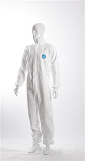 N-0009-L DOTCH® Tyvek® Coverall, Tyvek®, 41g/m², white, L, double bagged, 1 pc/double bag, 25 double bags/box