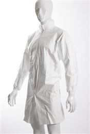 NS-0003-L DOTCH® Tyvek® Coat with zipper, Tyvek®, 41g/m², white, L, double bagged, 1 pc/double bag, 25 double bags/box, sterile