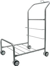 C-0219 TruCLEAN™ Pro Cart without casters, stainless steel cart and handle, 70,5x48x91,5cm, 1 pc/box