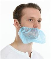 F-0076 CMT® PP nonwoven beard mask, polypropylene, blue, 40x25cm, 100 pcs/bag, 10 bags/box