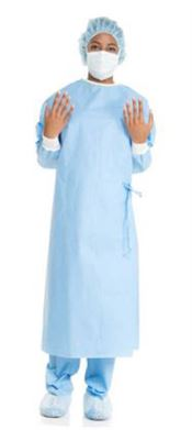 NS-0012 Ultra Surgical Gowns, polypropylene, 50g/m², blue, 32 pcs/box, sterile
